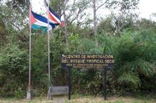 sign at Guanacaste National Park